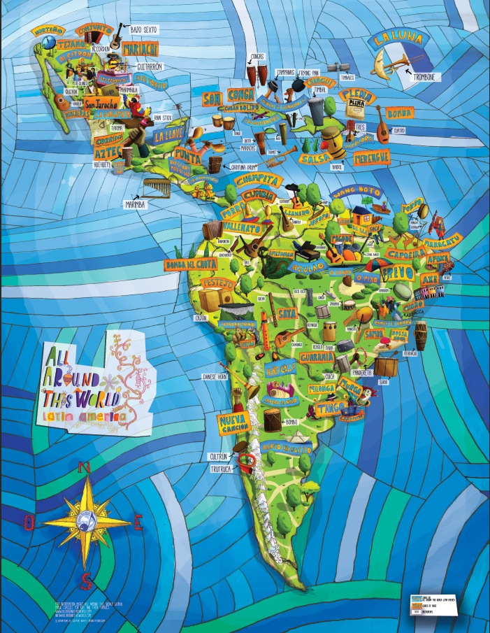 All Around This World: Latin America Musical Map Jpg