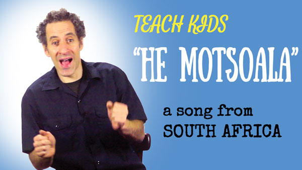Africa travel song -- Let's Sing He Motsoala -- All Around This World
