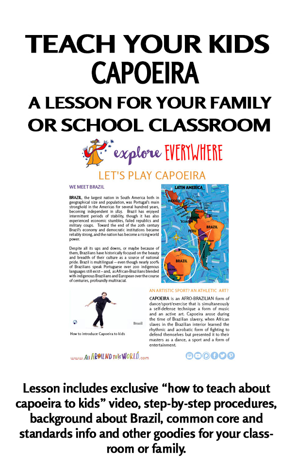 All Around This World lesson for classrooms and homeschool -- Capoeira from Brazil