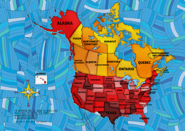"All Around This World US and Canada ""Everywhere Map"" -- The United States of America for kids"