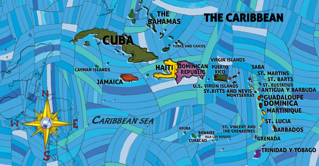 "All Around This World Caribbean ""Everywhere Map"""