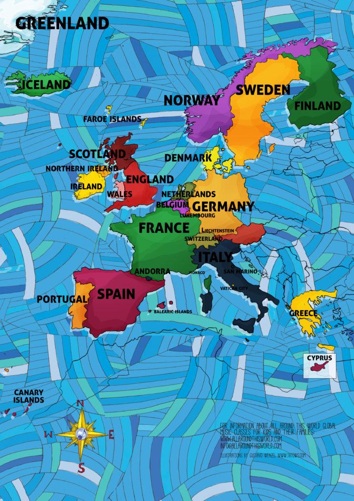 "All Around This World Western Europe ""Everytwhere Map"""