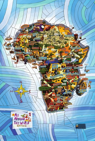 "All Around This World Africa ""Muiscal Map"" -- World maps for kids"