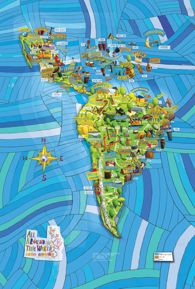 "All Around This World Latin America ""Musical Map"" -- World Maps for Kids"