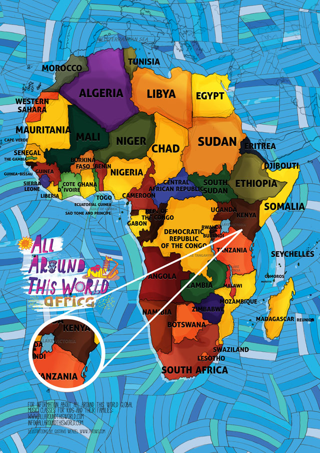 Kenya for kids what you teach your kids matters all around this world map of africa featuring kenya for kids gumiabroncs Images