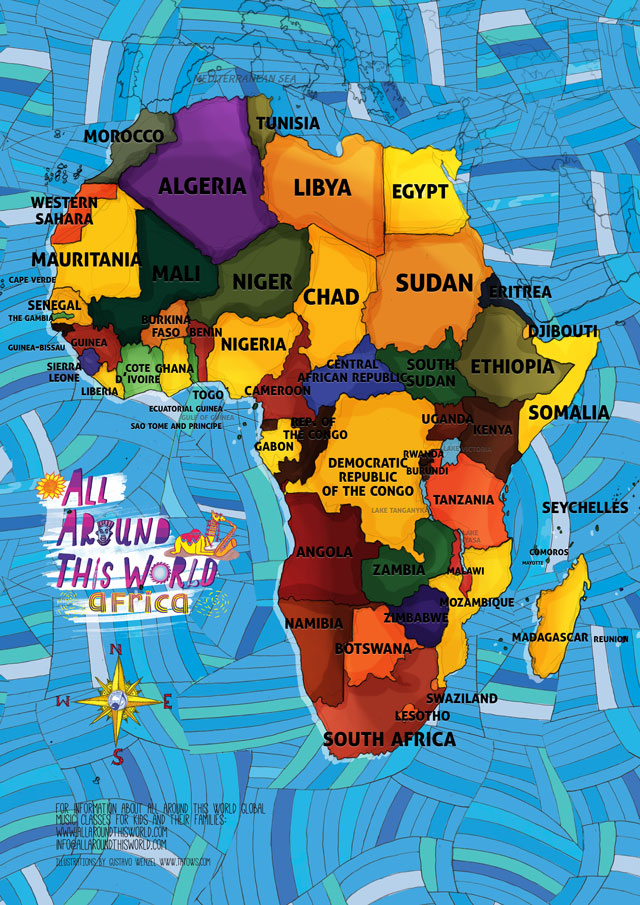 africa map for kids