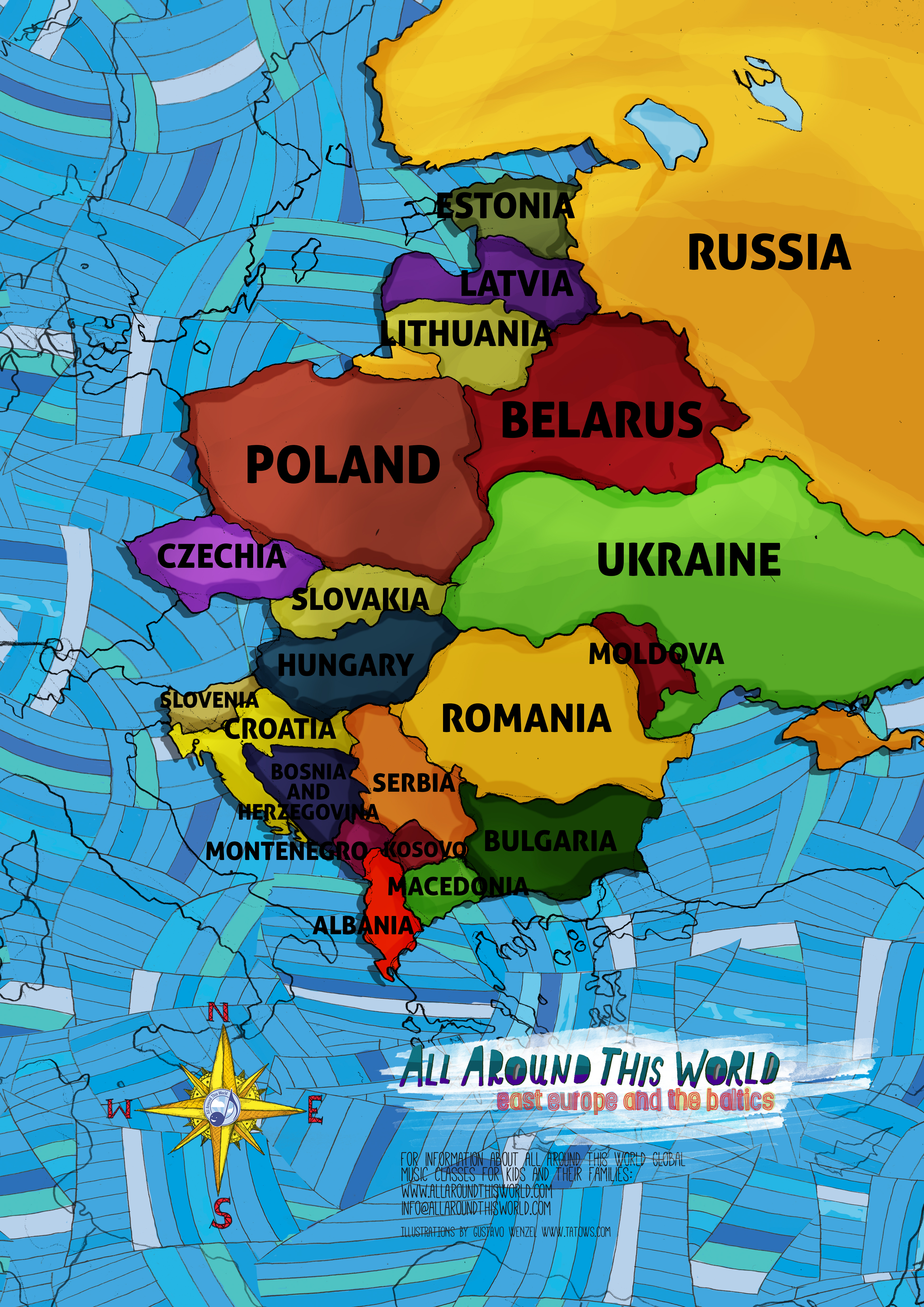 "All Around This World Eastern Europe ""Everywhere Map"" -- Eastern European songs for kids"