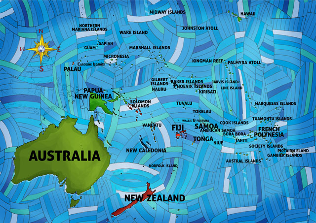 "All Around This World Oceania and the Pacific Islands ""Everywhere Map"""