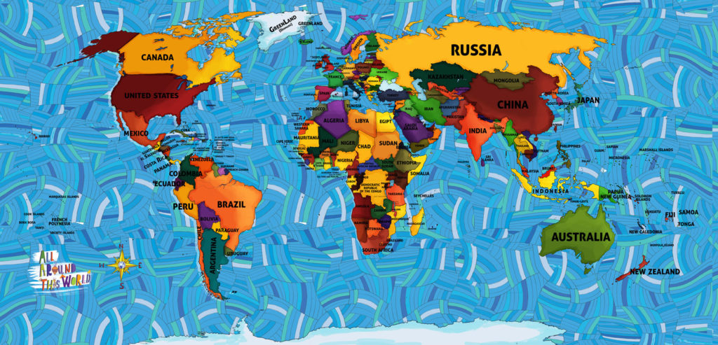 "All Around This World Global ""Everywhere"" map"