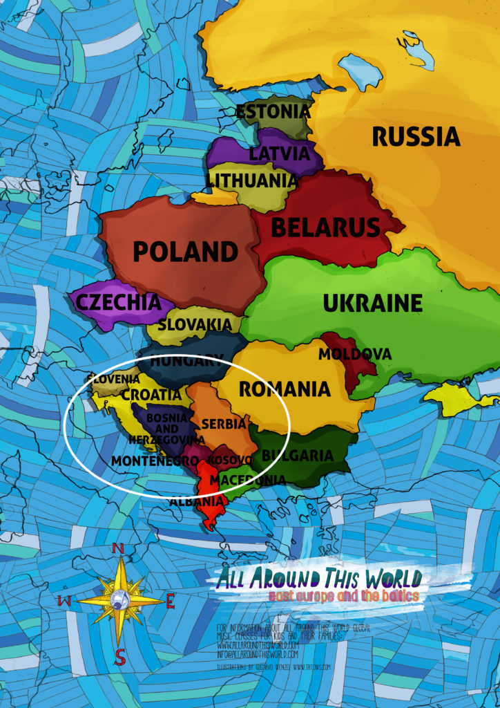 All Around This World Eastern Europe Map featuring the Balkans