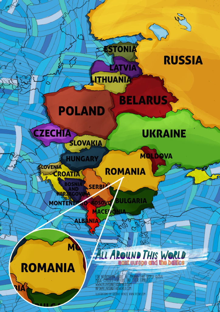 All Around This World Eastern Europe map featuring Romania