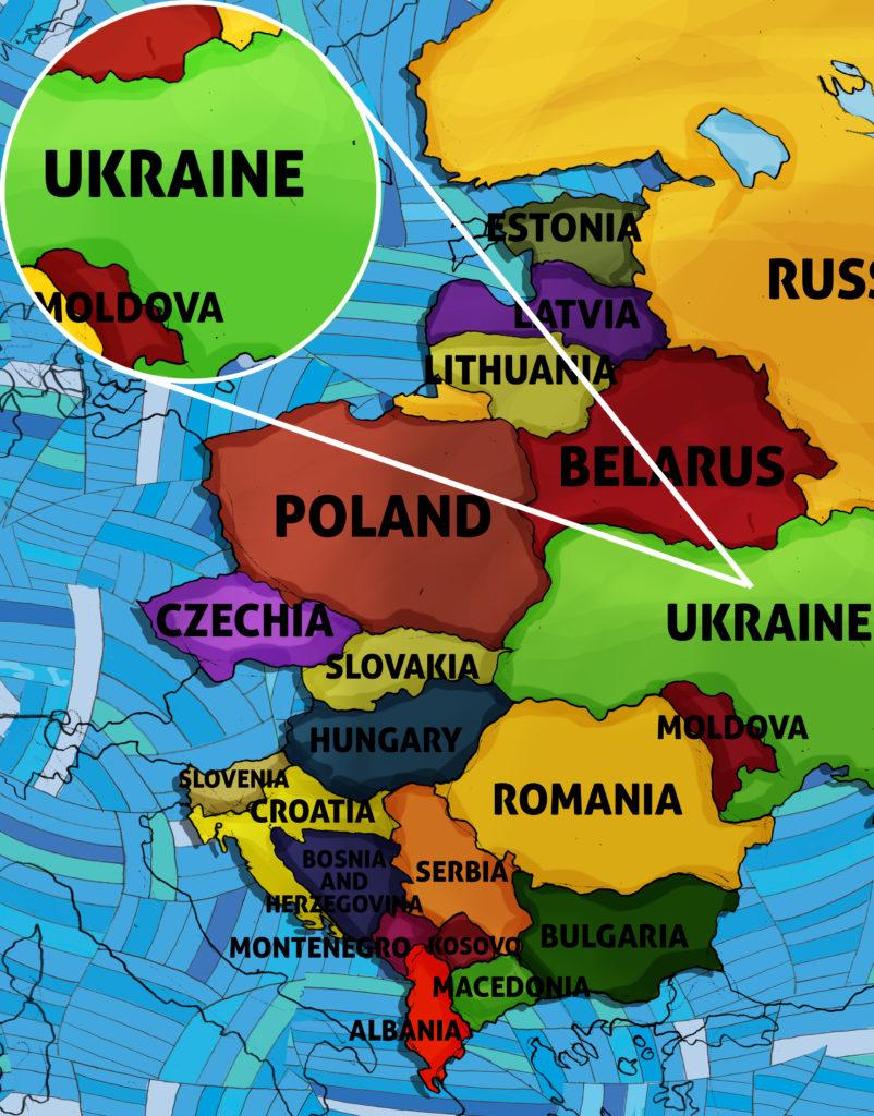 All Around This World Eastern Europe map featuring Ukraine